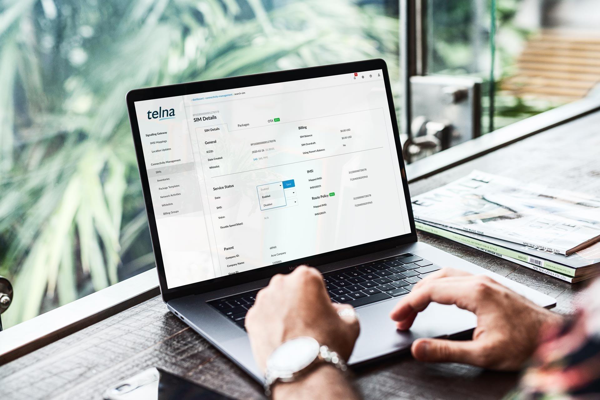 Telna - Cronus - Connectivity Platform - Page Header